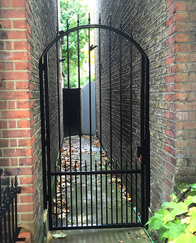 Decorative Arched Side Garden Gate