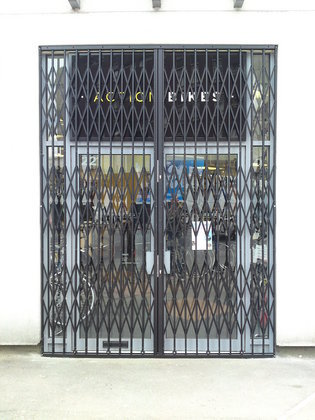 External Retractable Security Gate