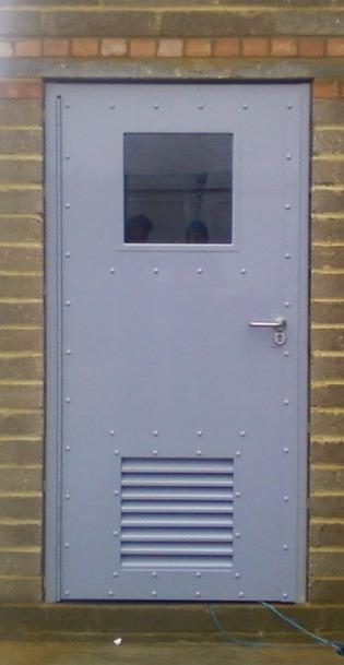Steel Security Door with Built-in Vision Panel & Vent ...