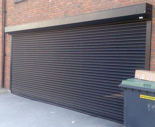 External Roller Shutter (Shown Protecting A Car Park Area)