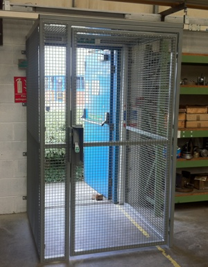 Fire Exit Security Cage with Secure Gate and Panic Latch