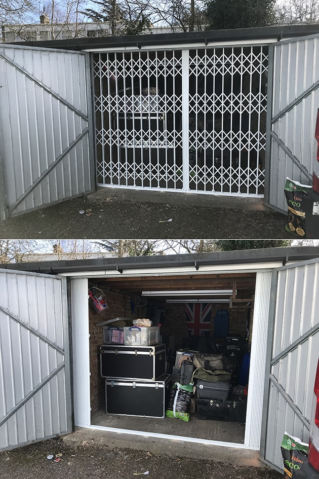 External Security Gate for Garages and Lockups