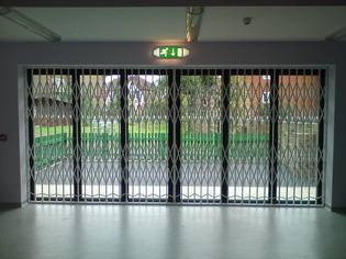 Internal Retractable Security Gate